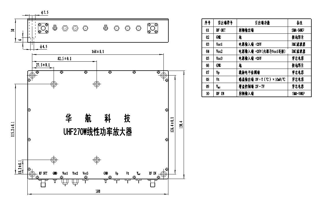 uhf270w线性功率放大器